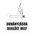 Dohányzásra kijelölt hely (fekete-fehér matrica)