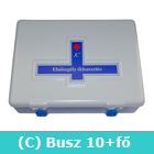 Elsősegély felszerelés buszhoz C típusú - C mentőláda (kék)