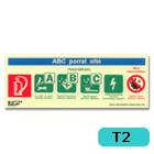 Tűzoltó készülék típus jelző vinil matrica (ABC)