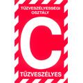 """Tűzveszélyességi osztály jelző tábla """"C"""""""