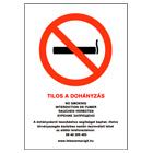 Tilos a dohányzás / No smoking - PVC tábla
